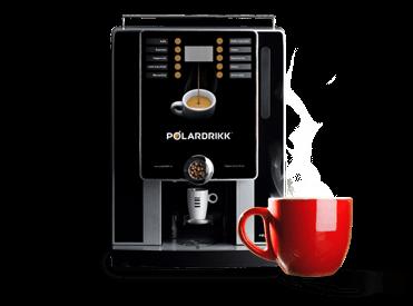 Kaffeautomat med kopp
