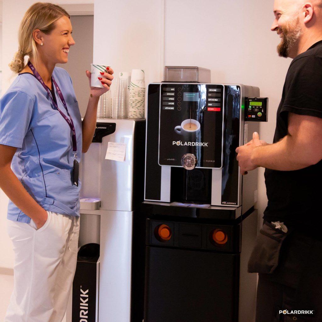 kaffemaskin med visa betaling LHL-Klinikkene
