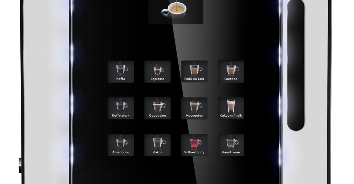 kaffemaskin trykkpanel