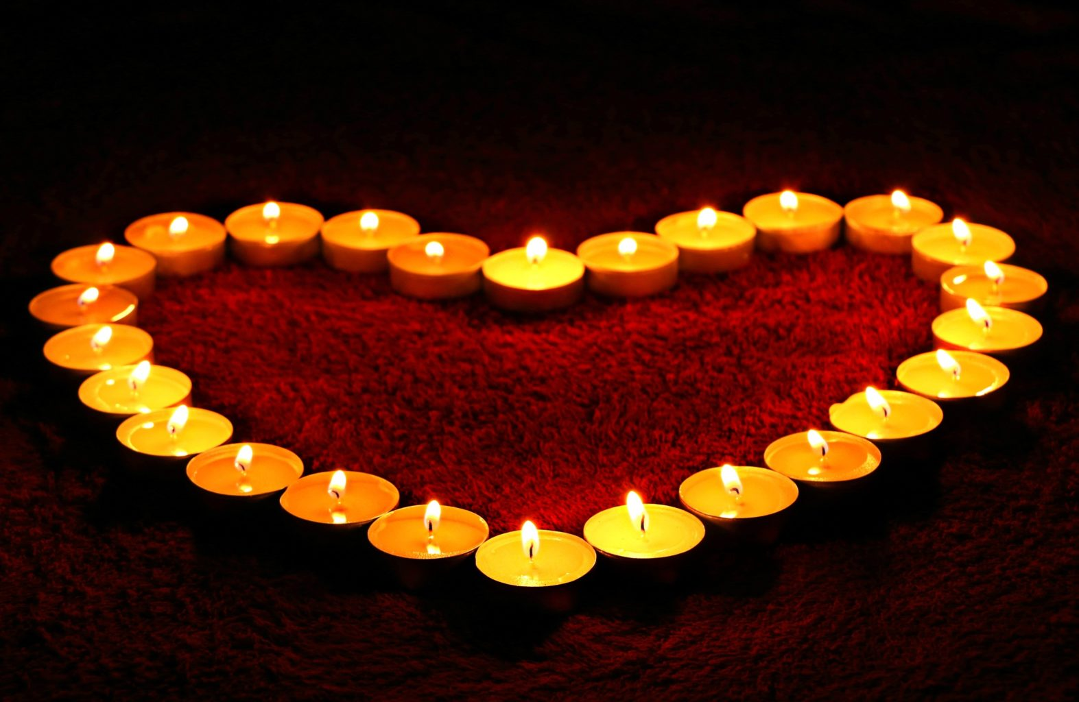 te-lys hjerte