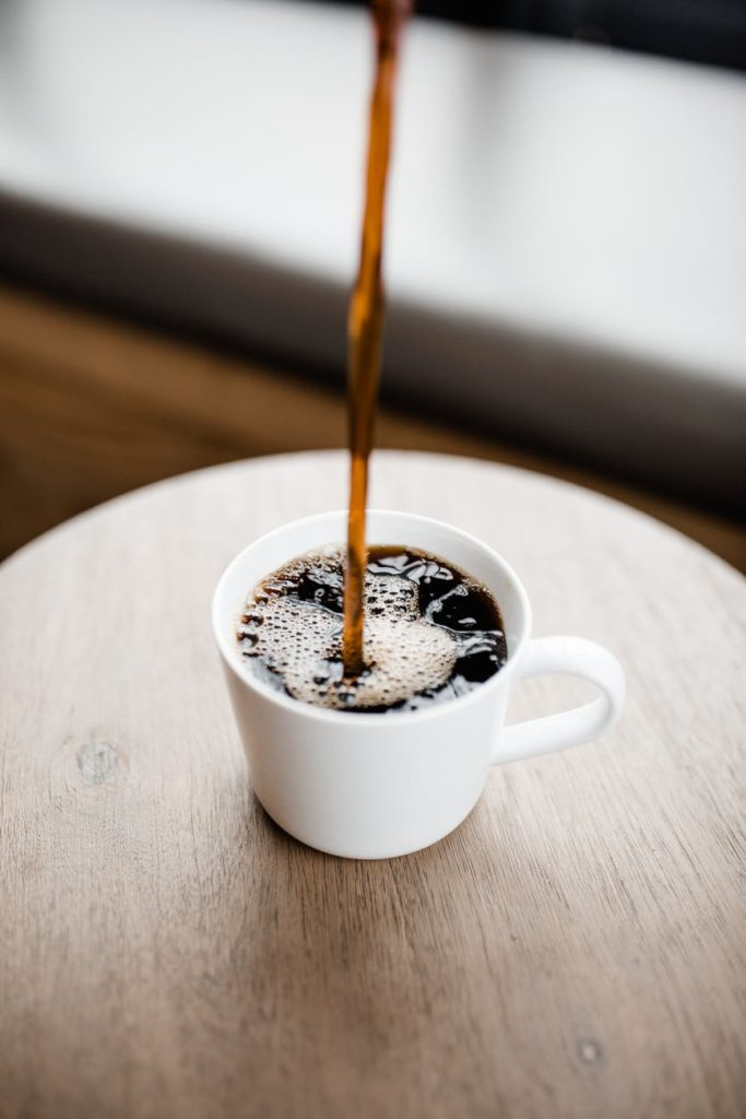 Kaffekopp med kaffe